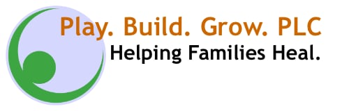 Play. Build. Grow. Logo